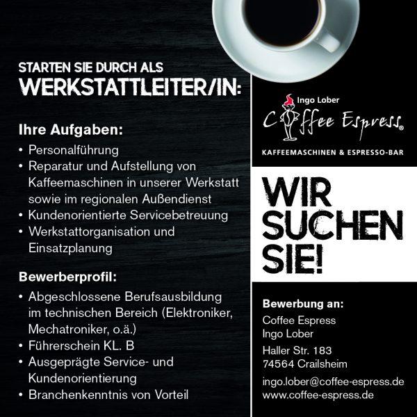 Stellenanzeige_Werkstattleiter_Coffe_Espress_90x90-600x600