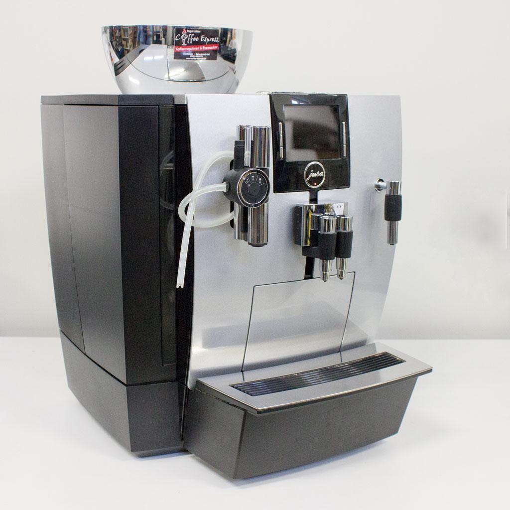 jura impressa xj9 professional gii aroma brillantsilber gebraucht coffee espress. Black Bedroom Furniture Sets. Home Design Ideas